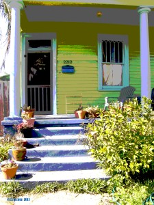 Blue Porch Yellow House NOLA 2013