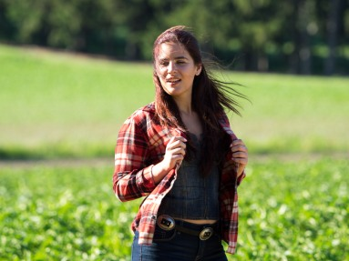 Kayla in her Field