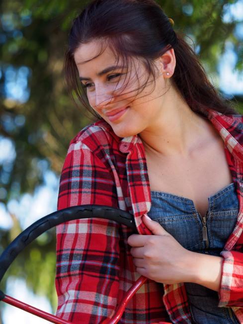 Kayla on Tractor 2